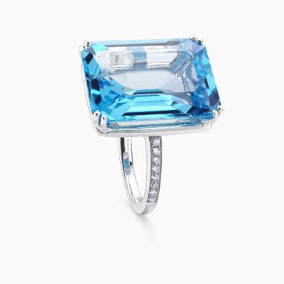 Anillo Big Stones Topacio Azul