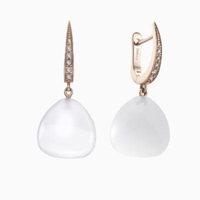 Durán Chalcedony Quartz Earrings