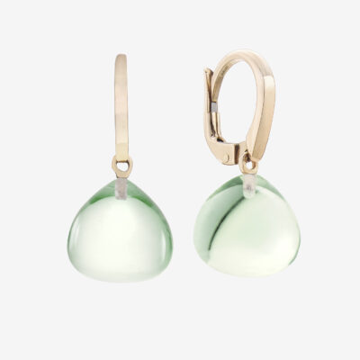 Durán Prasiolitte Quartz Earrings