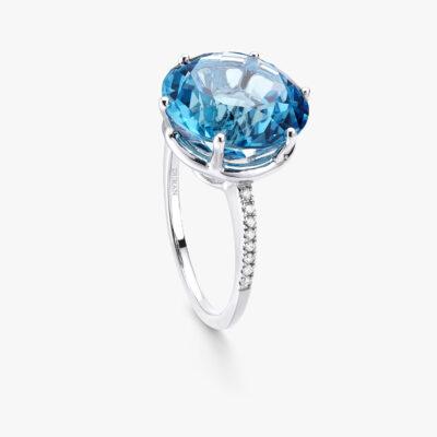 Durán Blue Topaz Ring