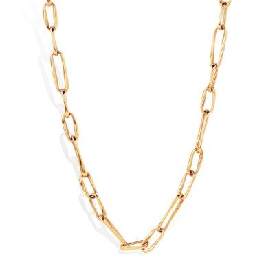 Collar Cadena Durán en Oro Rosa